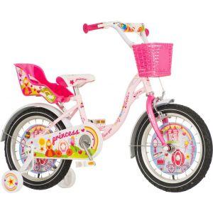 Bicikl VISITOR Princess 16 roza beli KONTRAŠ 2017 PRI160