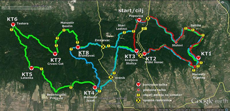 Mapa Fruškogorski MTB Maraton